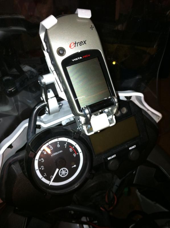 GPS Garmin HCx sur Yamaha Ténéré
